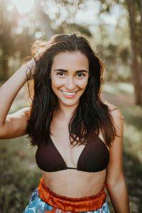 Escorts in London - hot brunette in bikini